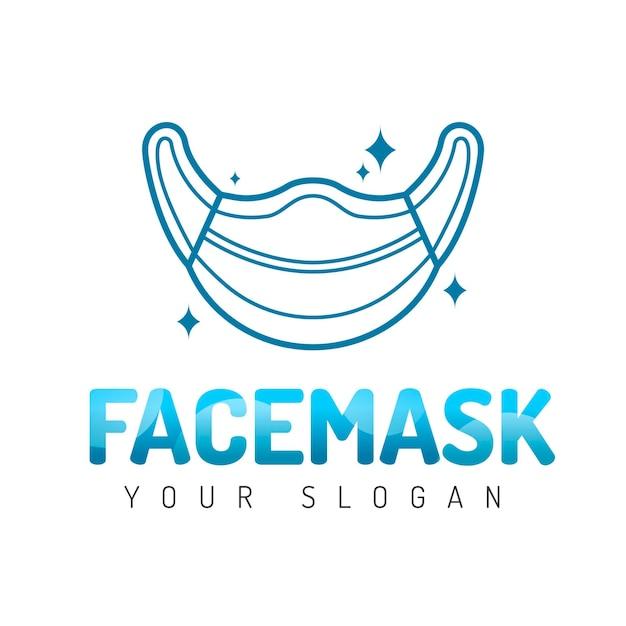 Kreative logo-vorlage für medizinische masken Kostenlosen Vektoren