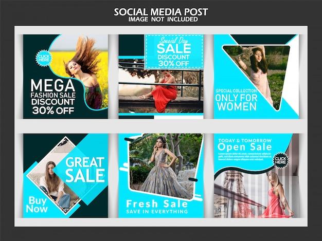 Kreative mode social media beitrag Premium Vektoren