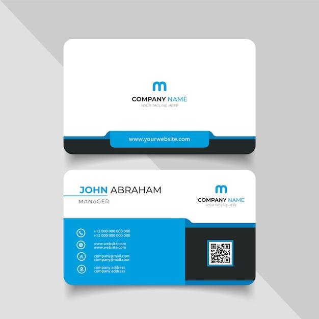 Kreative moderne visitenkarte und visitenkarte Premium Vektoren