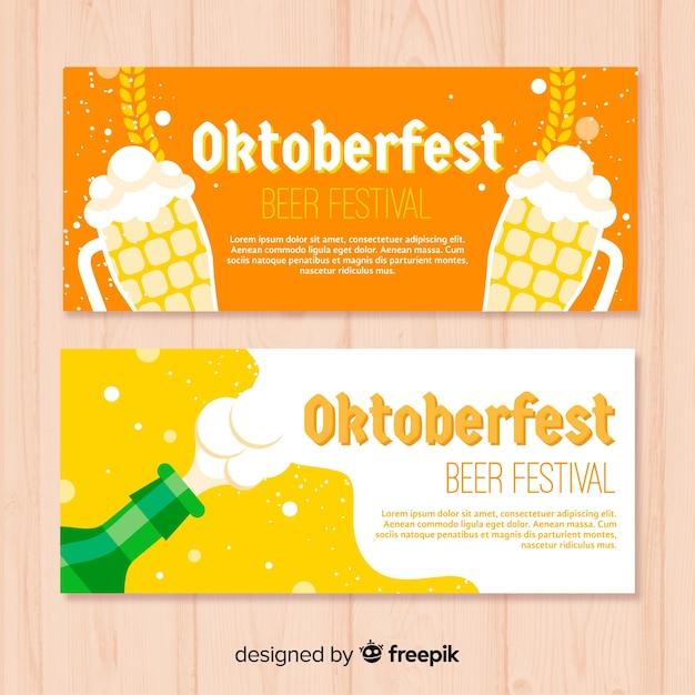 Kreative oktoberfest-banner Kostenlosen Vektoren