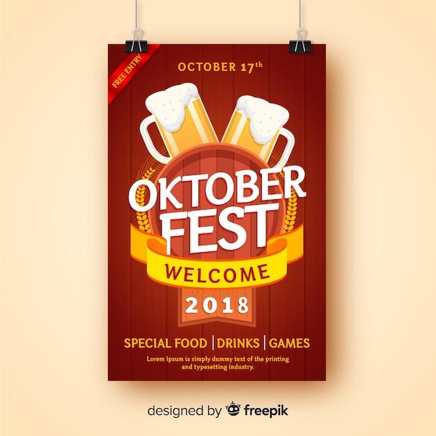 Kreative oktoberfest-plakatschablone Kostenlosen Vektoren