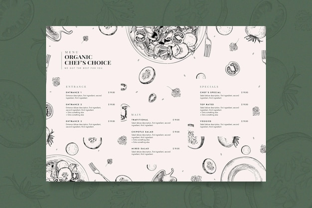 Kreative restaurantmenüvorlage Kostenlosen Vektoren