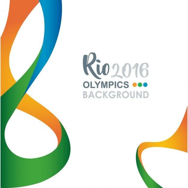 Kreative rio olympics hintergrund Kostenlosen Vektoren
