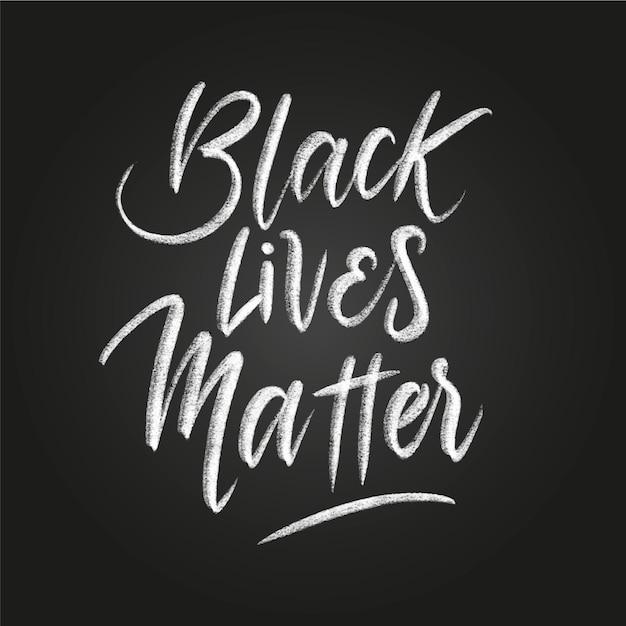 Kreative schwarze leben materie schriftzug Kostenlosen Vektoren