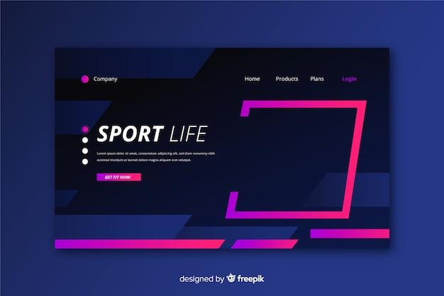 Kreative sport-landingpage-vorlage Kostenlosen Vektoren