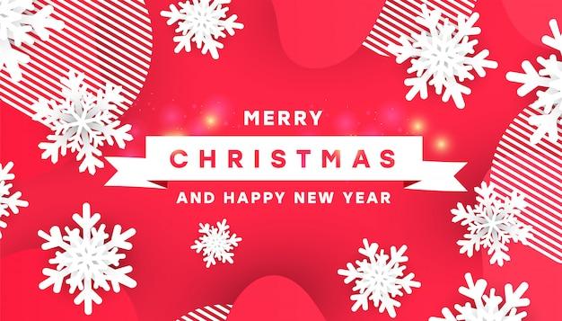 Kreative vektorillustrationsdesign-kartenschablone der frohen weihnachten Premium Vektoren