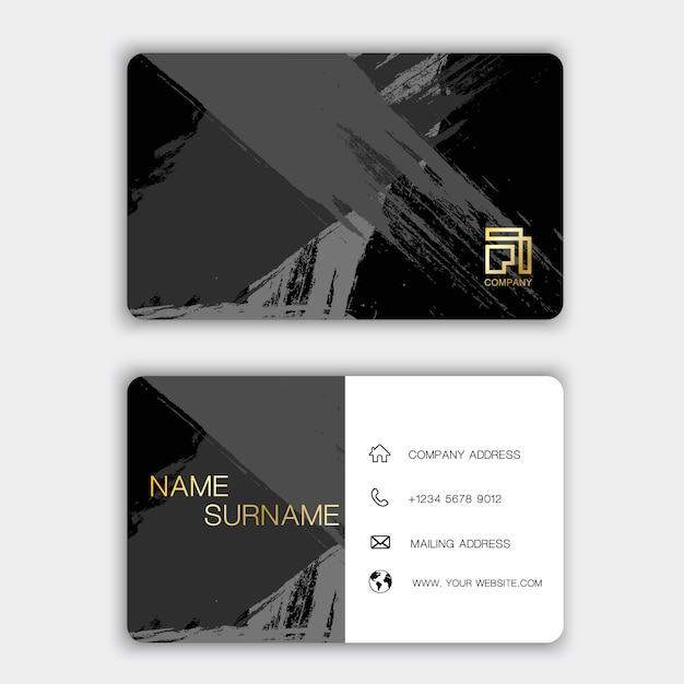 Kreative visitenkarte auf dem grau Premium Vektoren