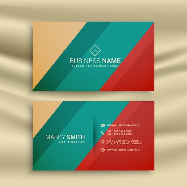 Kreative Visitenkarte Design Mit Retro Farben Download Der