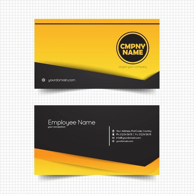 Kreative visitenkarte template-design Premium Vektoren