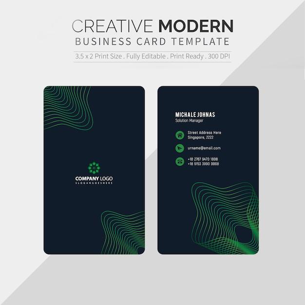 Kreative visitenkarte Premium Vektoren