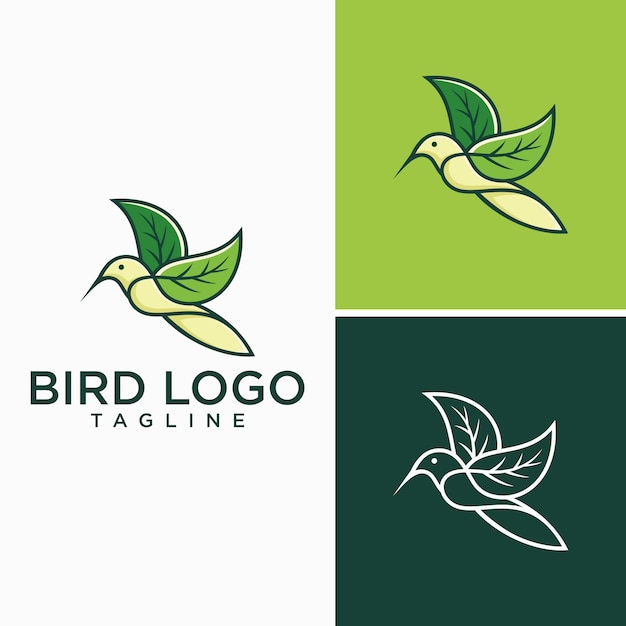 Kreative vogel-logo-bilder Premium Vektoren