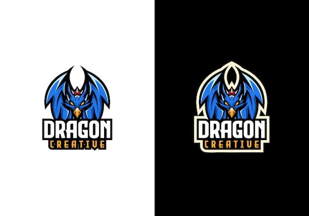 Kreative vorlage für das dragon sport maskottchen-logo Premium Vektoren