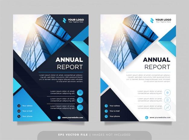 Kreative vorlage für den jahresbericht. Premium Vektoren