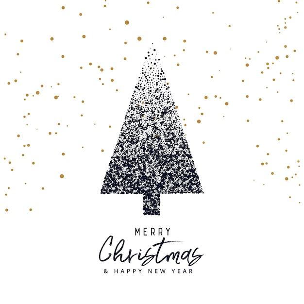 Weihnachtsgrüße Als Tannenbaum.Kreative Weihnachtsbaum Design Mit Punkten Weihnachtsgruß Gemacht