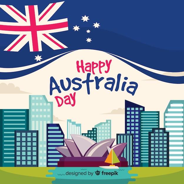Kreativer australien-tageshintergrund Kostenlosen Vektoren