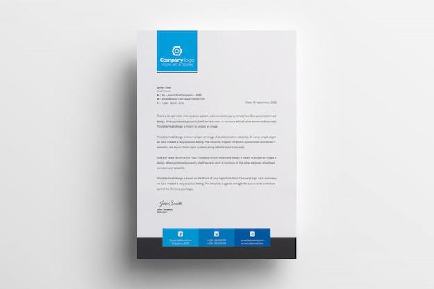 Kreativer briefkopfdesign-schablonenvektor Kostenlosen Vektoren