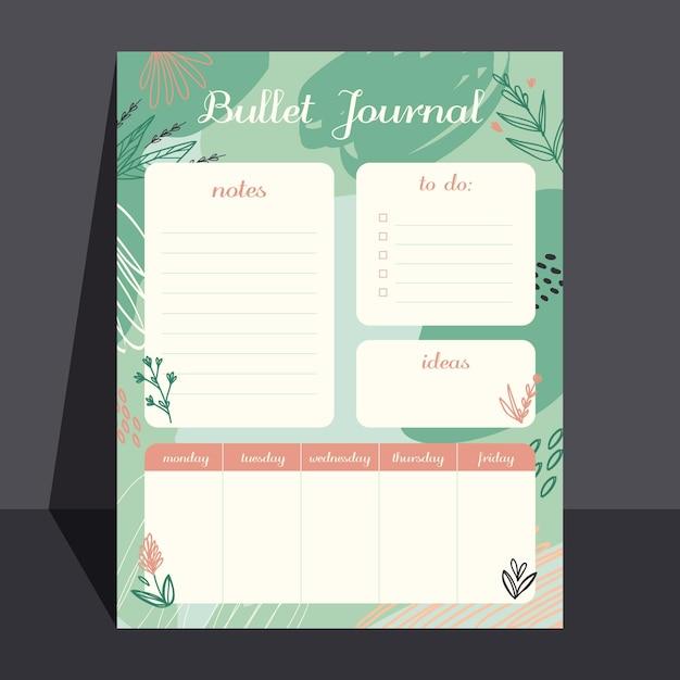 Kreativer bullet journal planer Kostenlosen Vektoren