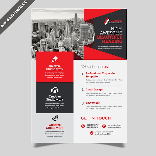 Kreativer business-flyer Premium Vektoren