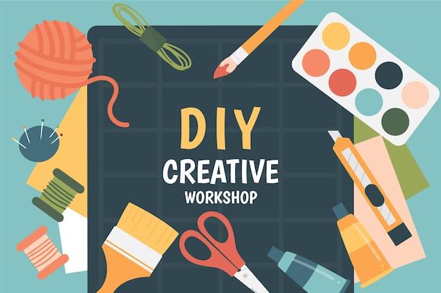 Kreativer diy-workshop illustriert Kostenlosen Vektoren