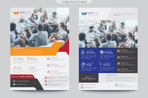 Kreativer flyer Premium Vektoren