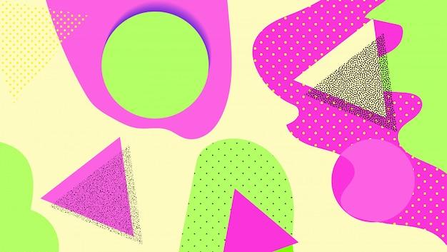 Kreativer geometrischer hintergrund mit florenelementen und verschiedenen beschaffenheiten. collage. Premium Vektoren