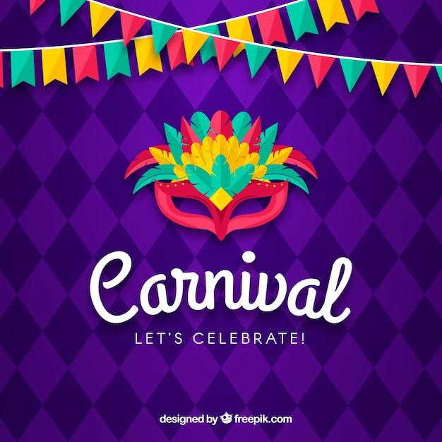 Kreativer Karnevalshintergrund Kostenlose Vektoren