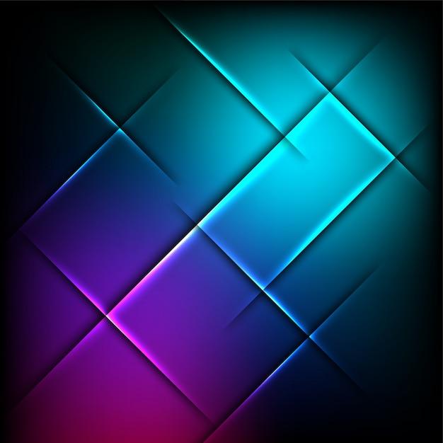 Kreativer leuchtender abstrakter Hintergrund. Kostenlose Vektoren