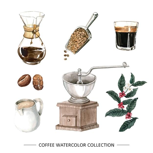 Kreativer lokalisierter aquarellkaffee Kostenlosen Vektoren