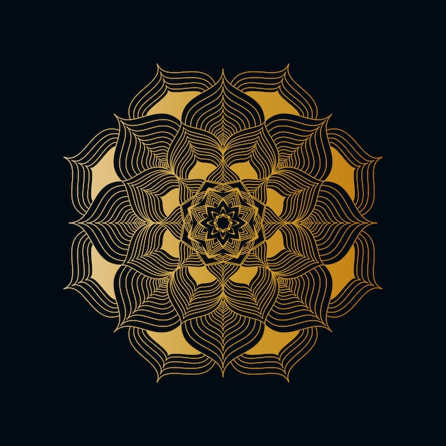 Kreativer luxus-mandala background with golden creative-arabesken-muster-arabische islamische ostart Premium Vektoren