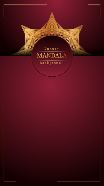 Kreativer luxus-mandala-hintergrund Premium Vektoren