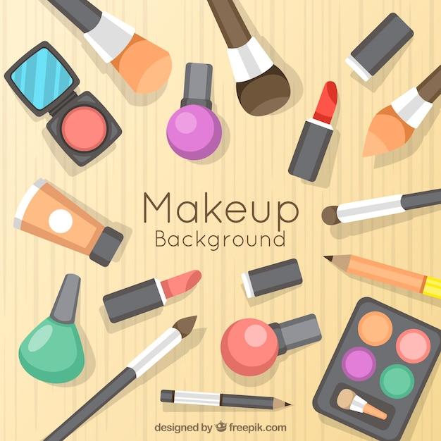 Kreativer make-uphintergrund Kostenlosen Vektoren