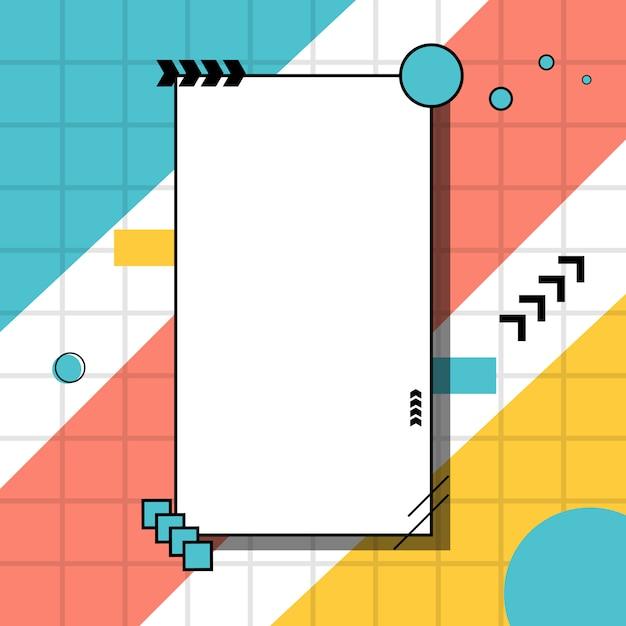 Kreativer minimalistischer unregelmäßiger geometrischer randhintergrund. Premium Vektoren