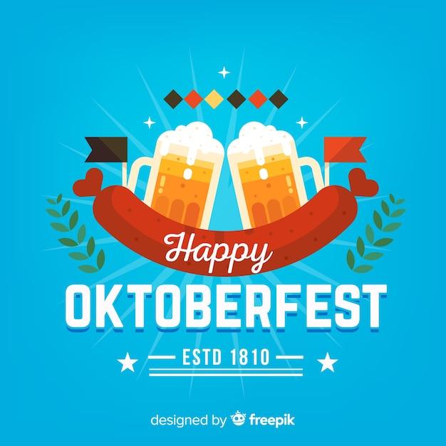 Kreativer oktoberfest-hintergrund Kostenlosen Vektoren