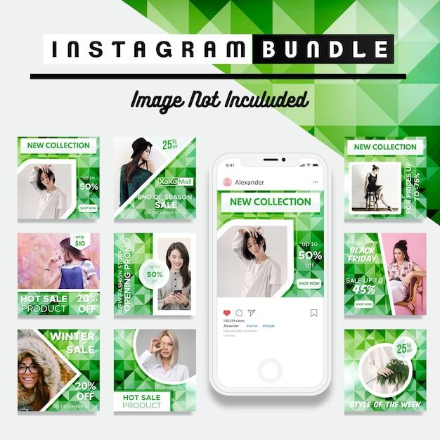 Kreativer rabatt instagram post-vorlage Premium Vektoren