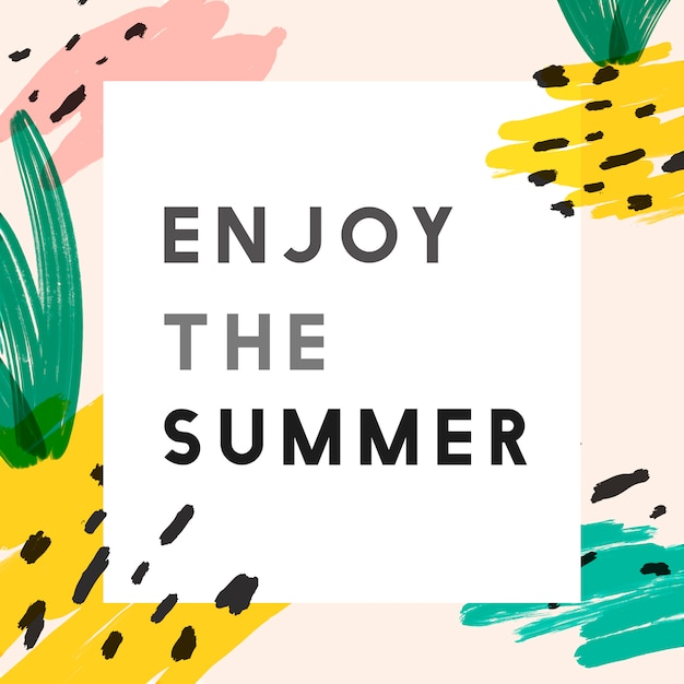 Kreativer sommer instagram hintergrund Kostenlosen Vektoren