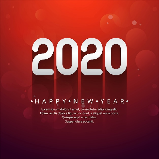 Kreativer text des neuen jahres 2020 der feier Kostenlosen Vektoren