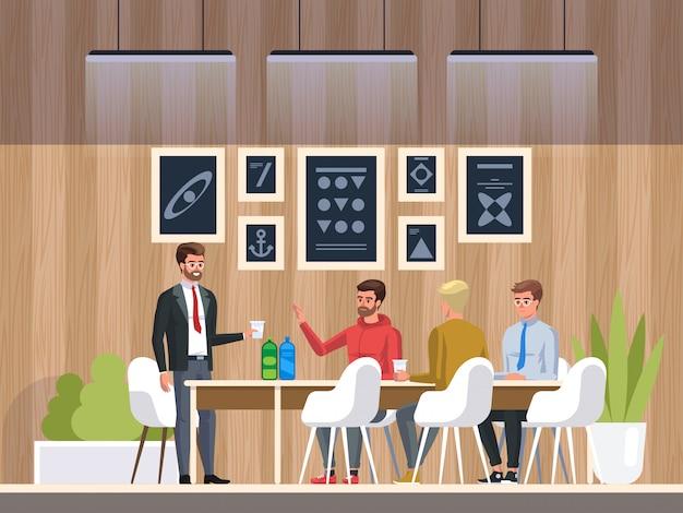 Kreatives büro-coworking-center Premium Vektoren