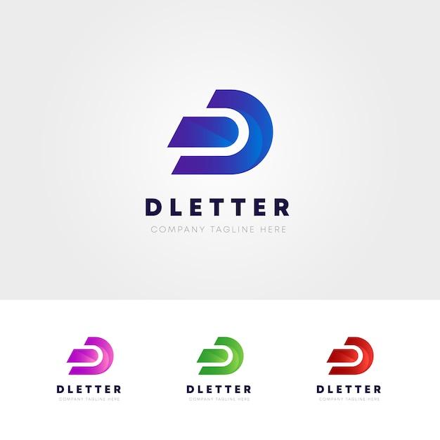 Kreatives d-buchstaben-logo Premium Vektoren