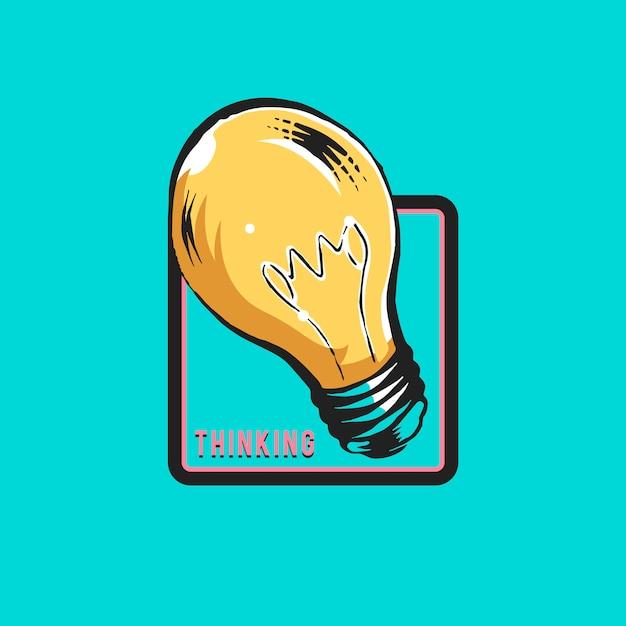 Kreatives denken und neuer ideenkonzeptvektor Kostenlosen Vektoren