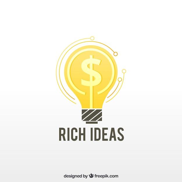 Kreatives geld-logo-design Kostenlosen Vektoren