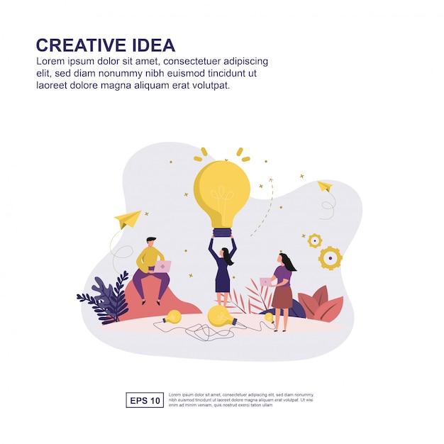 Kreatives ideenkonzept Premium Vektoren