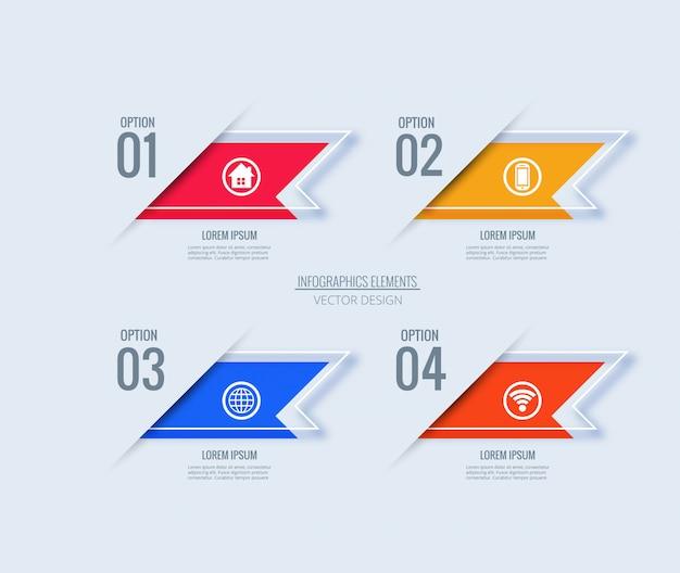 Kreatives konzept der infographic-design-schablone mit 4 schritten Kostenlosen Vektoren