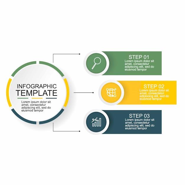 Kreatives konzept für infografik. Premium Vektoren
