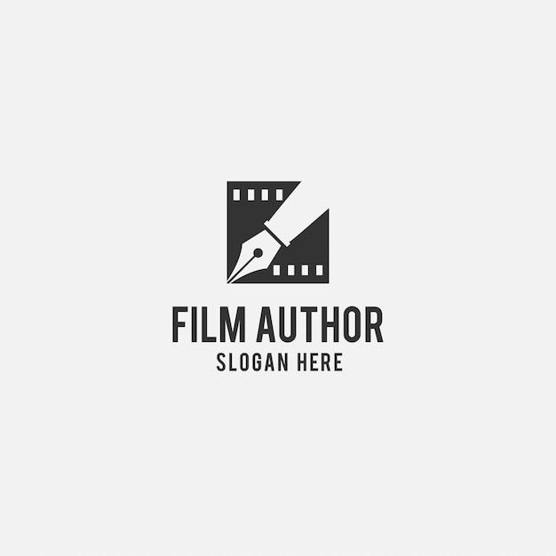 Kreatives logo für den film Premium Vektoren