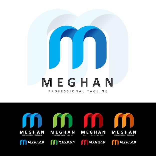 Kreatives logo mit m buchstaben Premium Vektoren