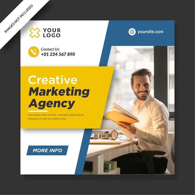 Kreatives marketing agentur instagram post design Premium Vektoren