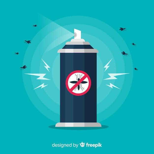 Kreatives moskito-kontrollkonzept Kostenlosen Vektoren