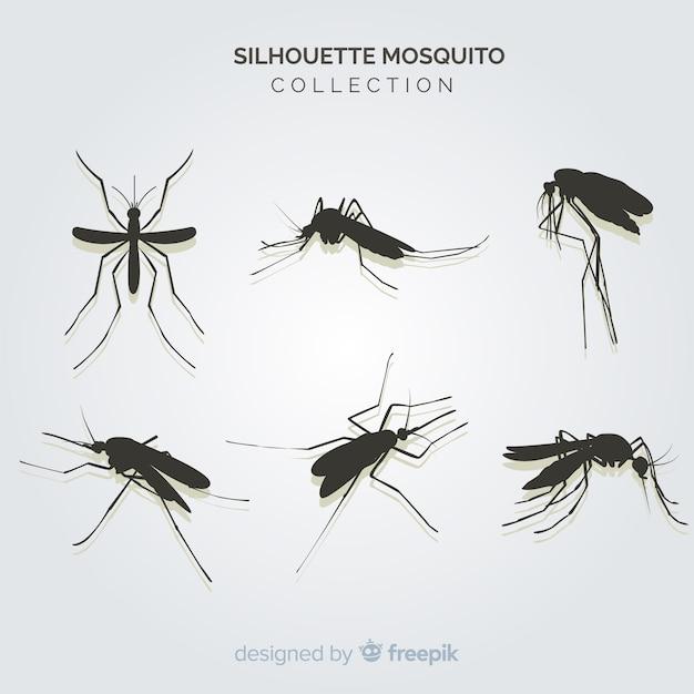 Kreatives paket moskitoschattenbilder Kostenlosen Vektoren