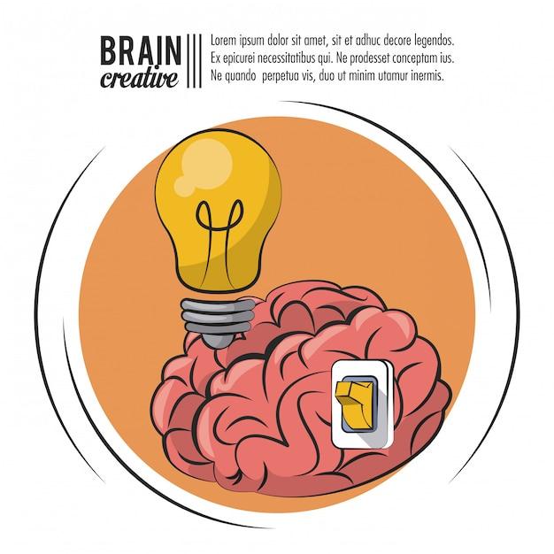 Kreatives plakat des gehirns mit informationen Premium Vektoren