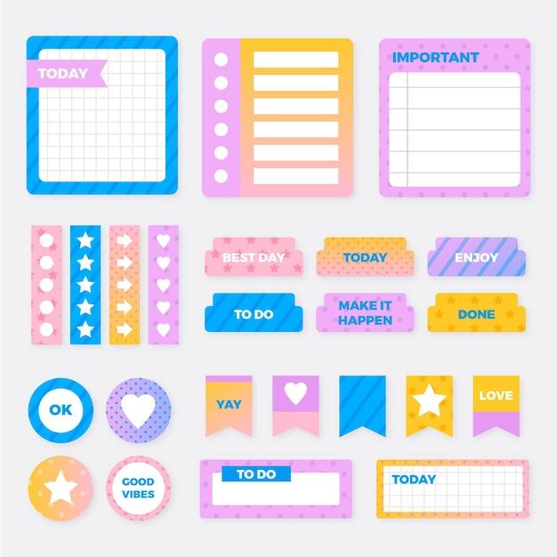 Kreatives planer-sammelalbum Premium Vektoren